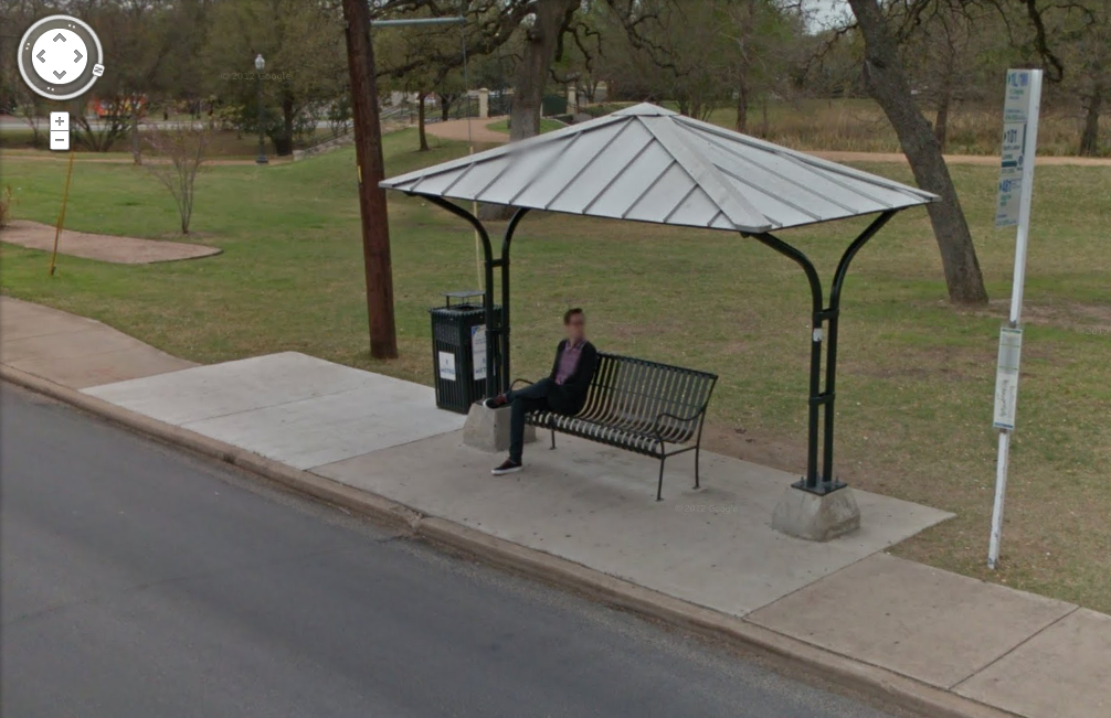 Local bus stop, SB Guadalupe near 39th via Google StreetView