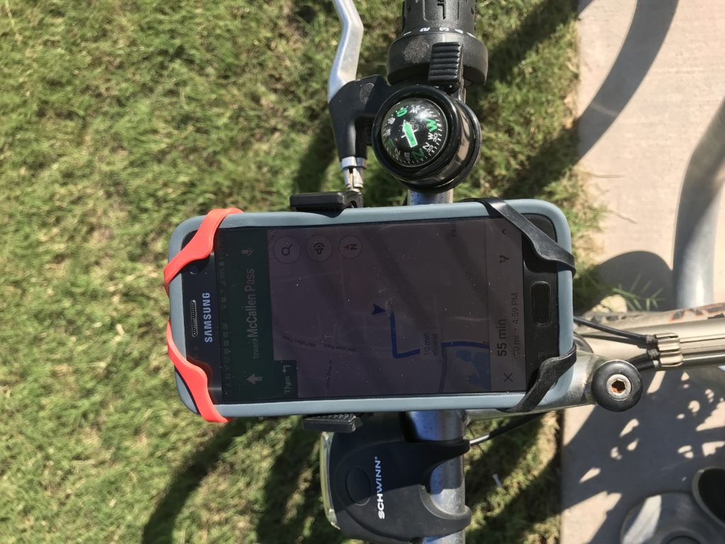 phone on bike