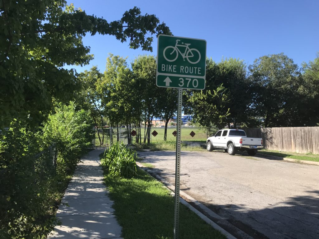sidewalk for route 370