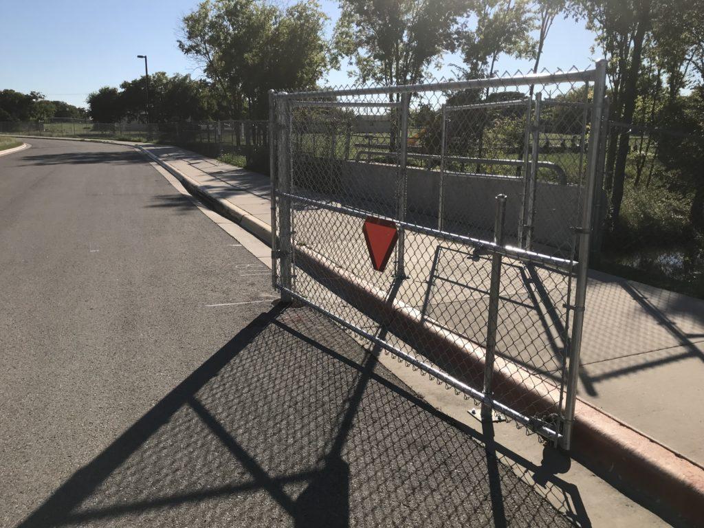 Gates at Georgian entrance to Walnut Creek Elementary